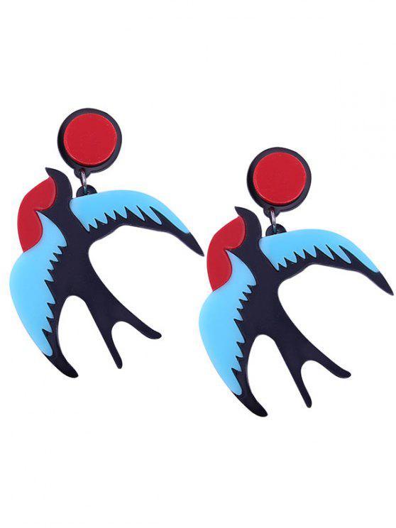 Nette Harz-Fliegen-Vogel-Ohrringe - Blau