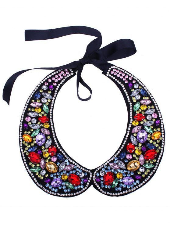 women Rhinestone Sparkly Fake Collar Necklace - COLORMIX