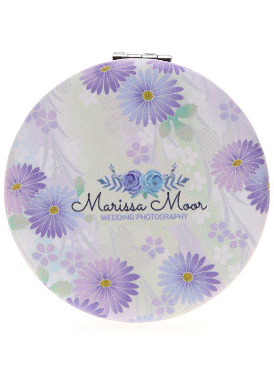 new Two-sided Valentine's Day Chrysanthemum Pattern Make Up Mirror - COLORMIX