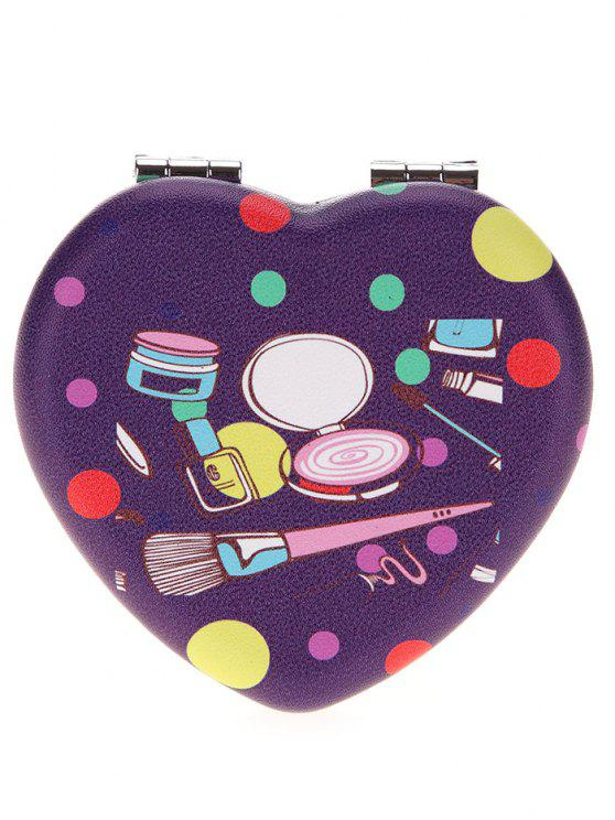 outfit Two-sided Heart Shape Makeup Mirror - COLORMIX