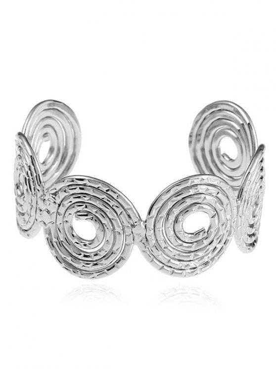 outfit Hollow Out Spiral Cuff Bracelet - SILVER
