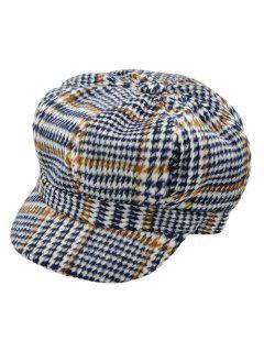 Houndstooth Newsboy Hat - Black