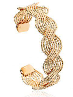 Twist Hollow Out Cuff Bracelet - Golden