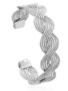 Twist Hollow Out Brazalete De Pulsera - Plata