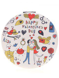 Two-sided Valentine's Day Lovers Kissing Make Up Mirror