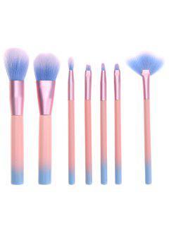 7Pcs Professional Makeup Brushes Set - Pink