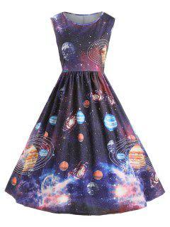 Robe Vintage Starry Sky Planet Space - 2xl