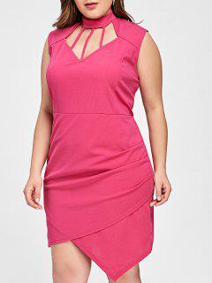 Robe Asymétrique Taille Haute - Rose 3xl