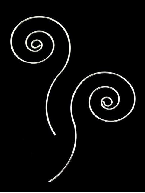 Metall Spiral Design Kreolen - Silber  Mobile