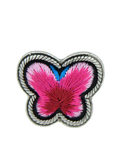 Bague paillette à motif papillon - Rouge Taille Unique Mobile