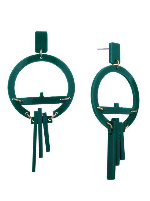 Harz Geometrische Runde Ohrringe - Grün  Mobile
