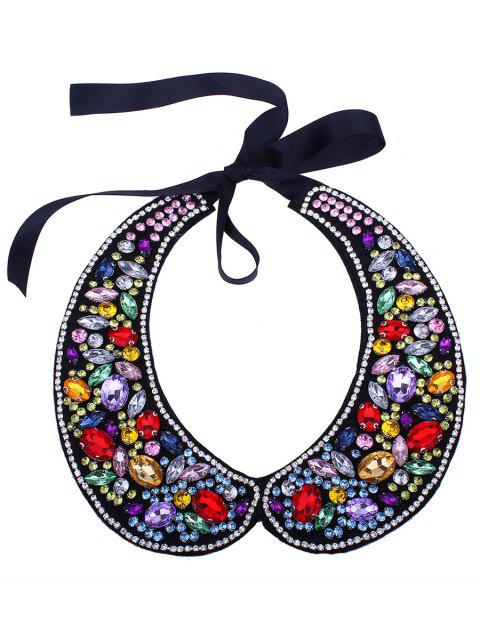 women Rhinestone Sparkly Fake Collar Necklace - COLORMIX  Mobile