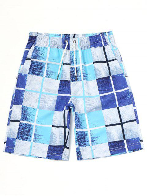 outfits Grid Board Swimming Trunks - COLORMIX L Mobile