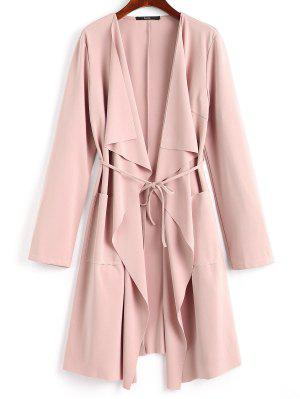 Front Pockets Draped Coat