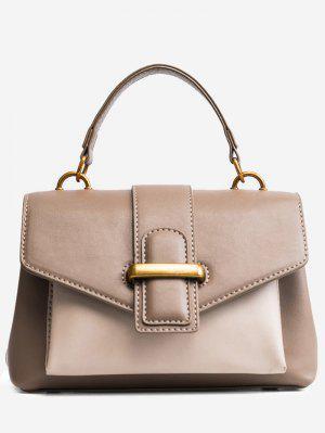 Schnalle Farbe Block PU Lederhandtasche