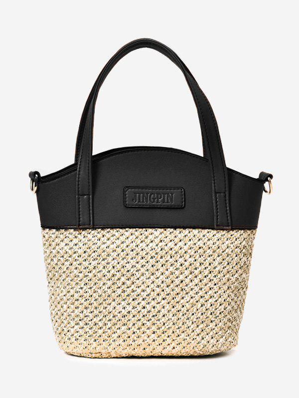 Color Block Straw Tote Bag 246308103