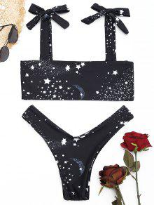 Galaxy Print High Cut Bikini Set