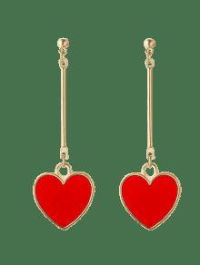 Valentine S Day Heart Metal Drop Earrings