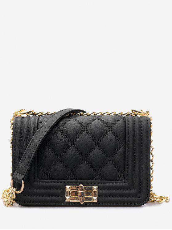 a369d33e5d 36% OFF  2019 Twist Lock Quilted Faux Leather Crossbody Bag In BLACK ...