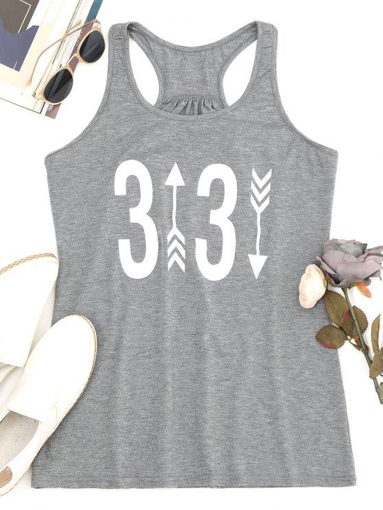 Camiseta sin mangas estampada Racerback Figure - Gris M