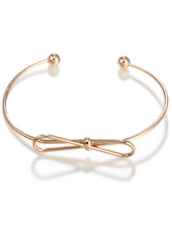fancy Bowknot Cuff Bracelet - GOLDEN