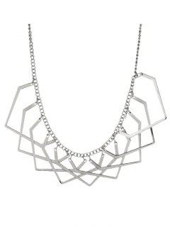 Geometric Charm Necklace - Silver