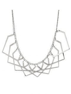 Collar Geométrico Del Encanto - Plata