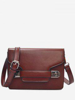 Flap Nude Crossbody Bag - Deep Brown