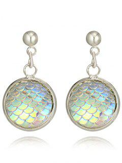 Valentine's Day Fish Scale Design Drop Earrings