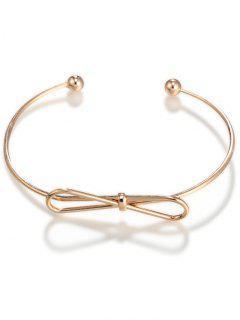 Bowknot Cuff Bracelet - Golden