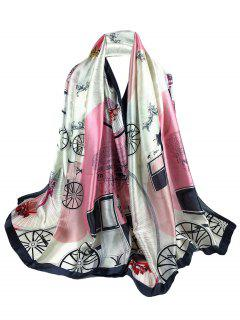 Soft Light Elegant Castle Pattern Sheer Scarf - Pink