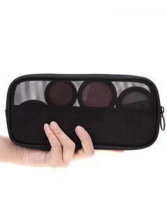 Breathable Multipurpose Mesh Travel Makeup Bag - Black