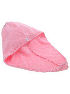 Quick Hair Drying Towel Absorbent Dry Hair Turban - Pink