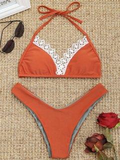 Conjunto De Bikini De Talle Alto Con Lazo Calado - Jacinto L