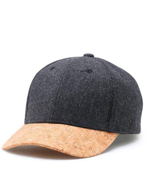 Einfache Linie Stickerei Faux Wolle Baseball Cap - Dunkelgrau  Mobile