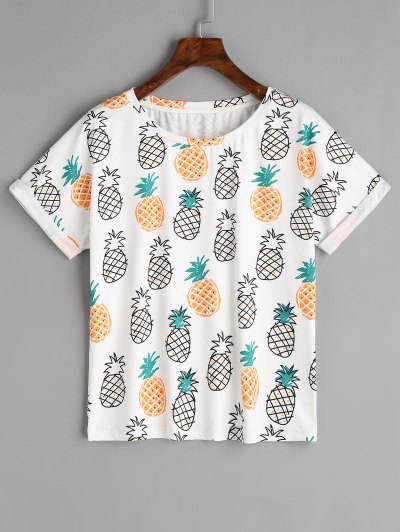tee-shirt ananas zaful