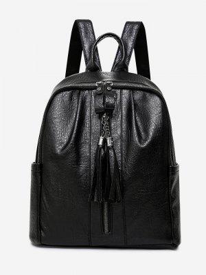 PU Leather Tassels Backpack