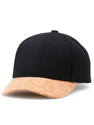 Simple Line Embroidery Faux Wool Gorra de béisbol
