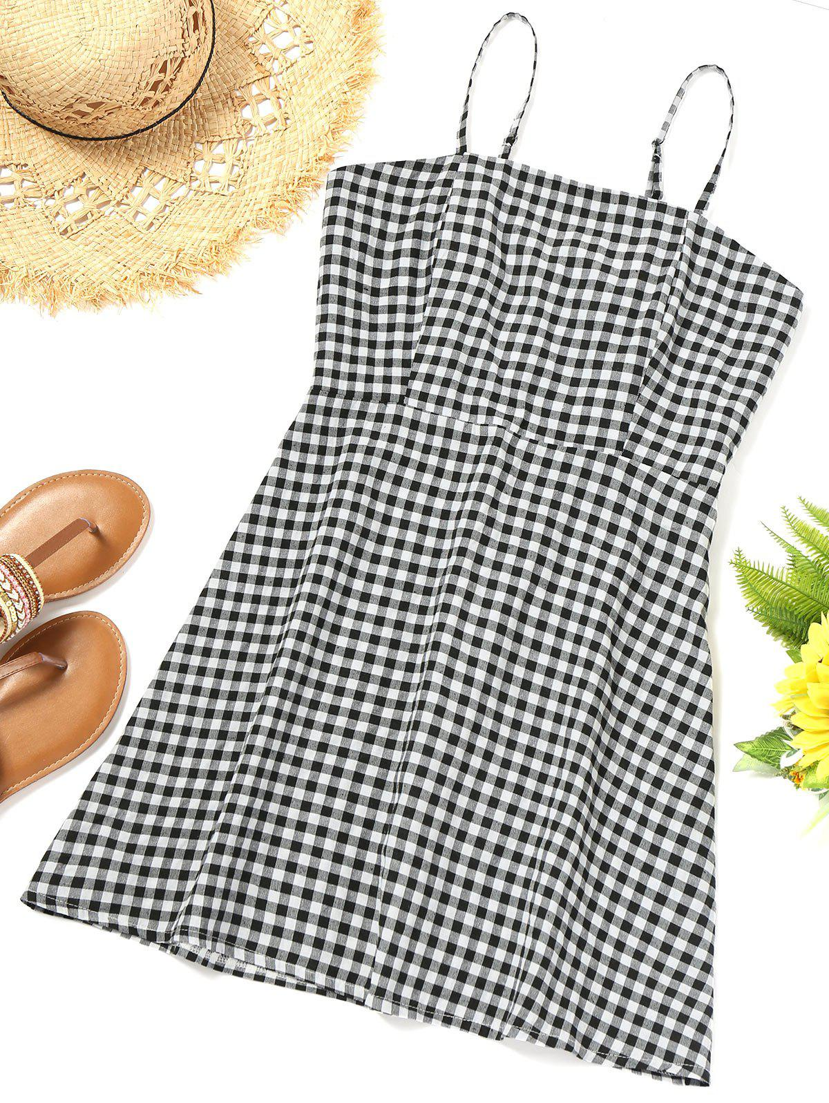 Cami Smocked Checked Beach Dress