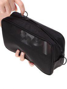 تنفس متعددة الوظائف شبكة سفر حقيبة ماكياج - أسود