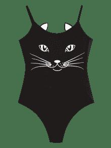 Con Negro Parche Gato Estampado De M Body fR4qdf