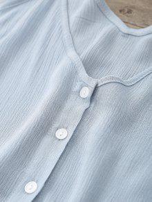 Mangas Cuello Piedra M Azul Recortado Sin Con Camiseta qUwxgzt