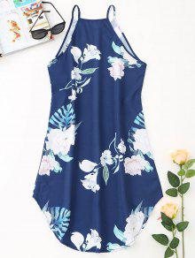 Mini Vestido M Tropical Cadetblue De Playa Floral qqw8rd