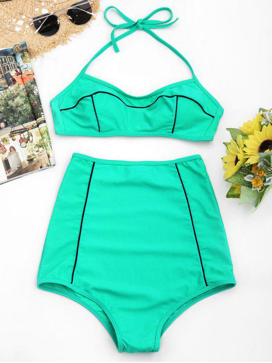 Conjunto Halter High Waisted Bikini - Verde do Lago S
