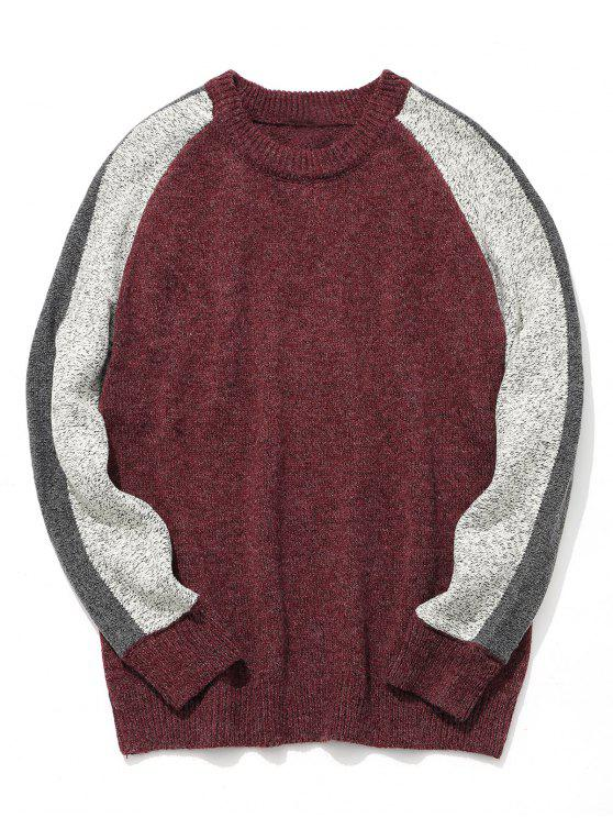 outfits Mens Colorblock Sweater - CLARET L