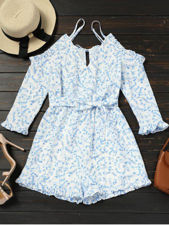 Combi-short cami à épaules dénudées et épaules dénudées - Floral M