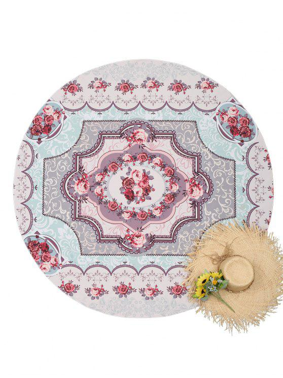 outfit Floral Round Tapestry Beach Throw - COLORMIX ONE SIZE