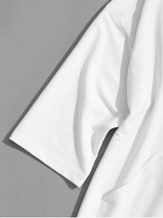 Pocket Xl White Hoodie Label Kangaroo FxqOggp