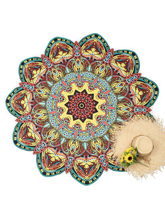 shop Mandala Printed Beach Throw - COLORMIX ONE SIZE