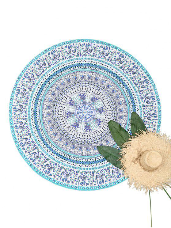 Mandala Round Tapestry Beach Throw - Colormix Única Talla